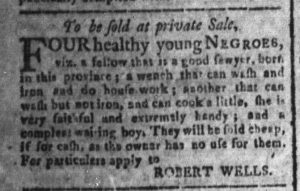 Dec 5 - South-Carolina and American General Gazette Slavery 6