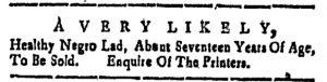 Nov 25 - New-Hampshire Gazette Slavery 1