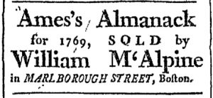 Nov 28 - 11:28:1768 Boston Chronicle