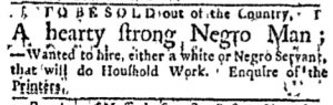 Nov 28 - Boston Evening-Post Slavery 2