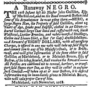 Nov 28 - Boston-Gazette Slavery 1