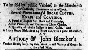 Nov 28 - New-York Gazette Weekly Mercury Slavery 4