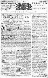 Nov 29 - 11:29:1768 South-Carolina Gazette and Country Journal