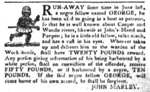 Nov 29 - South-Carolina Gazette and Country Journal Slavery 3