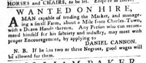Nov 29 - South-Carolina Gazette and Country Journal Slavery 4