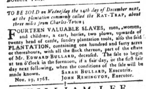 Nov 29 - South-Carolina Gazette and Country Journal Slavery 5