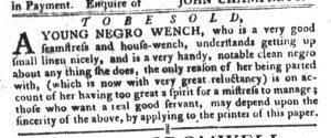 Nov 29 - South-Carolina Gazette and Country Journal Slavery 9