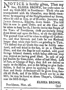 Dec 3 - 12:3:1768 Providence Gazette