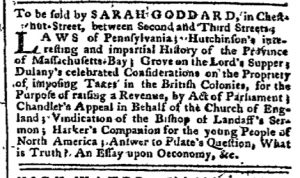 Dec 5 - 12:5:1768 Pennsylvania Chronicle