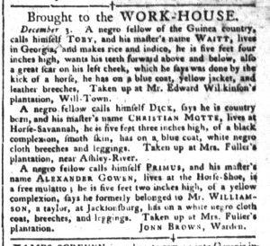 Dec 6 - South-Carolina Gazette and Country Journal Slavery 3