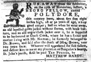 Dec 6 - South-Carolina Gazette and Country Journal Slavery 6