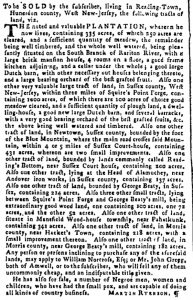 May 11 - Pennsylvania Gazette Supplement Slavery 3