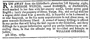 May 17 - Georgia Gazette Slavery 9