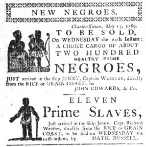 May 18 - South-Carolina Gazette Slavery 1