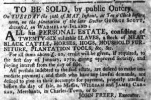 May 18 - South-Carolina Gazette Slavery 4