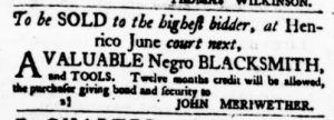 May 18 - Virginia Gazette Purdie and Dixon Slavery 4