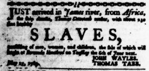 May 25 - Virginia Gazette Purdie and Dixon Slavery 2