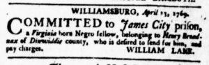 May 25 - Virginia Gazette Purdie and Dixon Slavery 8