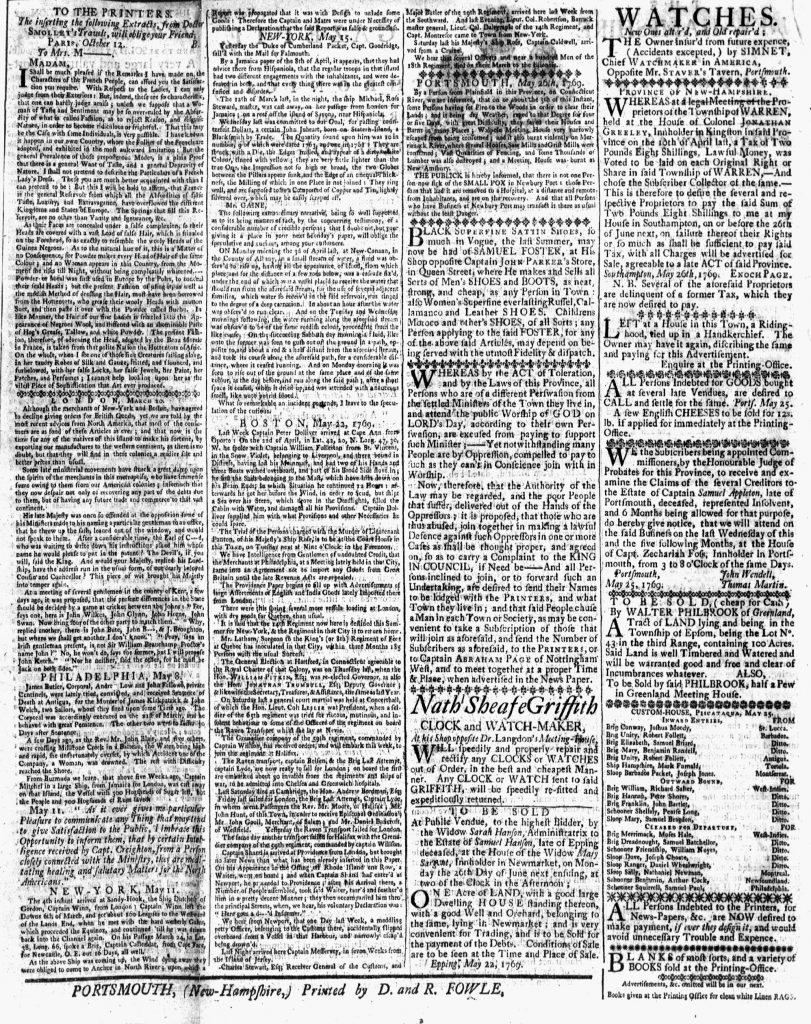 May 26 - 5:26:1769 New-Hampshire Gazette