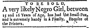 May 29 - Boston Evening-Post Slavery 1