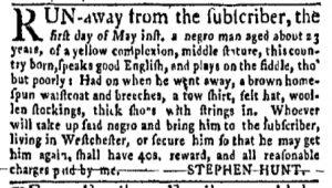 May 29 - New-York Gazette Weekly Mercury Slavery 4