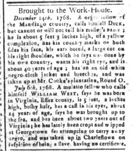 May 29 - South-Carolina and American General Gazette Slavery 7