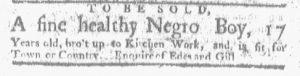 May 8 - Boston-Gazette Slavery 1