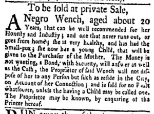 May 8 - New-York Gazette Weekly Mercury Slavery 4