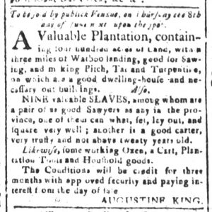 May 8 - South-Carolina and American General Gazette Slavery 2