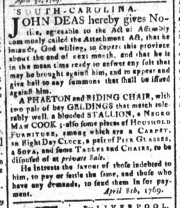 May 8 - South-Carolina and American General Gazette Slavery 7