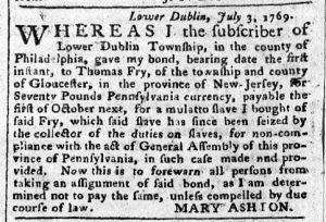 Jul 3 - Pennsylvania Chronicle Slavery 3