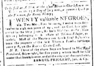 Jul 4 - South-Carolina and American General Gazette Slavery 3
