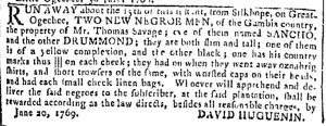 Jul 5 - Georgia Gazette Slavery 1