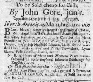 Jun 1 - 6:1:1769 Boston Weekly News-Letter