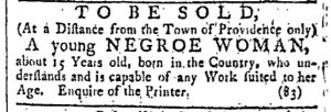 Jun 10 - Providence Gazette Slavery 1