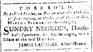 Jun 12 - South-Carolina and American General Gazette Slavery 2