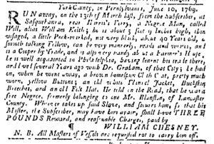 Jun 15 - Pennsylvania Gazette Slavery 2