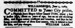 Jun 15 - Virginia Gazette Purdie and Dixon Slavery 4