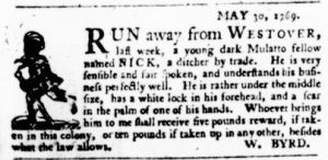 Jun 15 - Virginia Gazette Purdie and Dixon Slavery 5