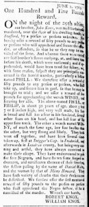 Jun 15 - Virginia Gazette Rind Slavery 1