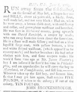 Jun 15 - Virginia Gazette Rind Slavery 3