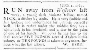 Jun 15 - Virginia Gazette Rind Slavery 8