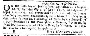 Jun 22 - Pennsylvania Gazette Slavery 1