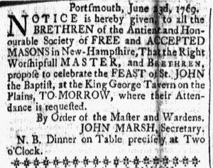 Jun 23 - 6:23:1769 New-Hampshire Gazette