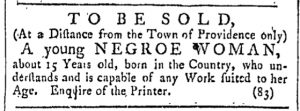 Jun 24 - Providence Gazette Slavery 1