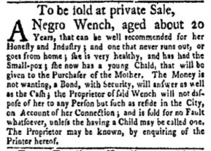 Jun 26 - New-York Gazette Weekly Mercury Slavery 3
