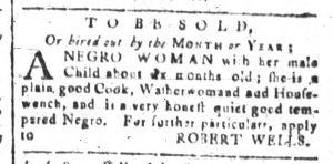Jun 27 - South-Carolina and American General Gazette Slavery 2