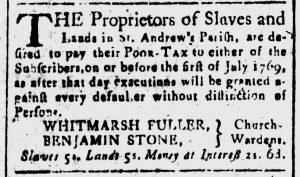 Jun 27 - South-Carolina and American General Gazette Slavery 5