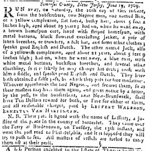 Jun 29 - Pennsylvania Gazette Slavery 3