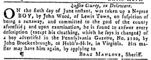 Jun 29 - Pennsylvania Gazette Slavery 4